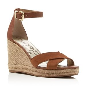 Sam Edelman Brenda Suede Brown Wedges Size 9.5